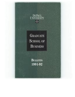 Kellstadt Graduate School of Business 1991-1992