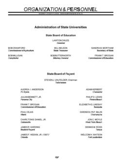 1998/1999 Undergraduate Organization and Personnel