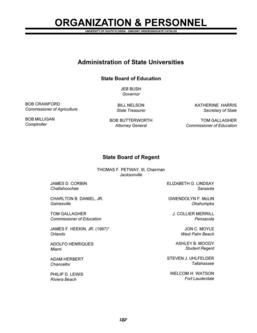 2000/2001 Undergraduate Organization and Personnel