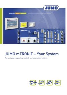JUMO mTRON T – Your System 2018