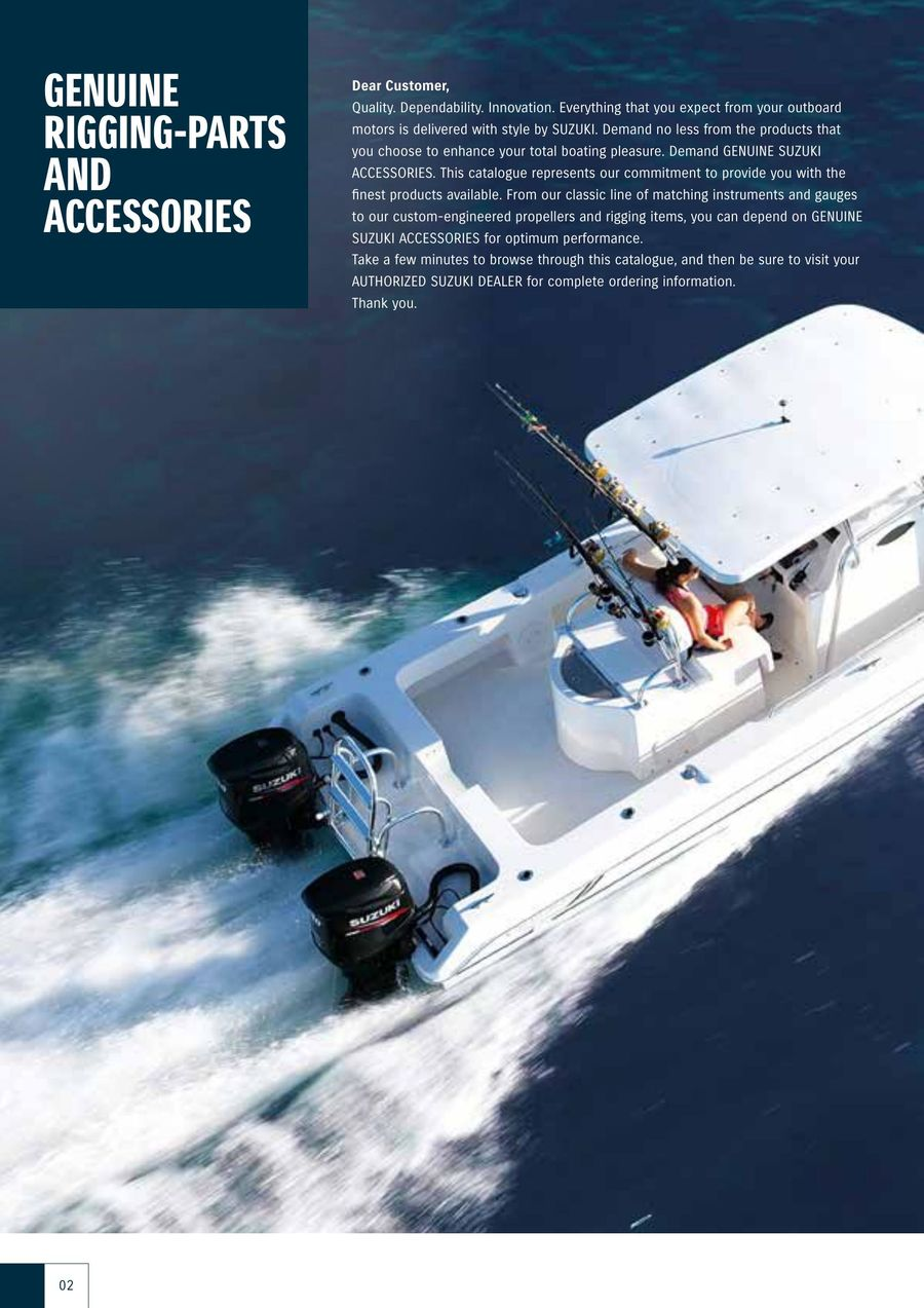 Suzuki Marine Genuine Rigging-Parts And Accessories Catalog 2014 by