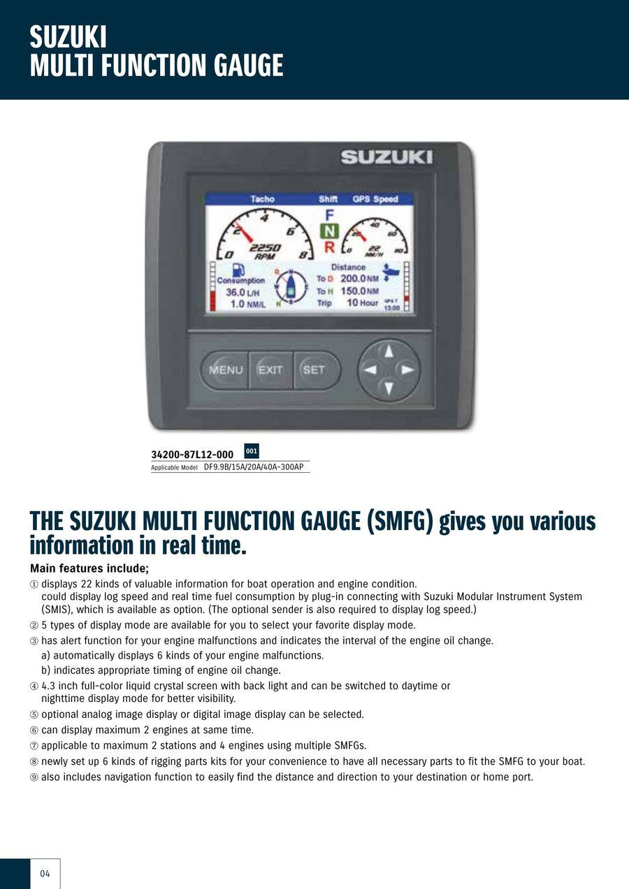 Suzuki Marine Genuine Rigging-Parts And Accessories Catalog ... on