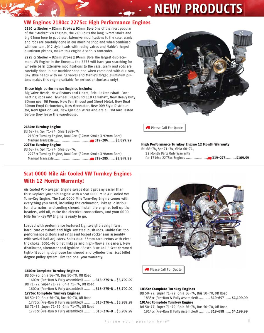Performance Choice Air Cooled Vw Engine Kits Performance And | Autos