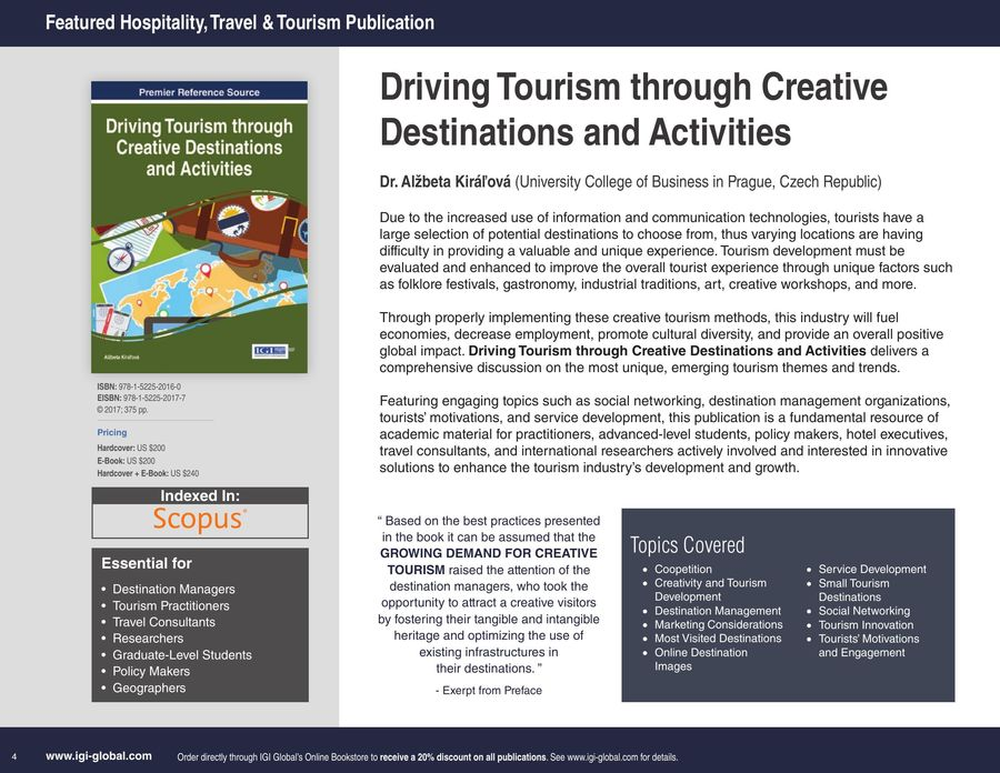 Hospitality, Travel, and Tourism 2018 by IGI Global
