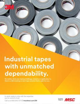3M Industrial tapes with unmatched dependability 2018
