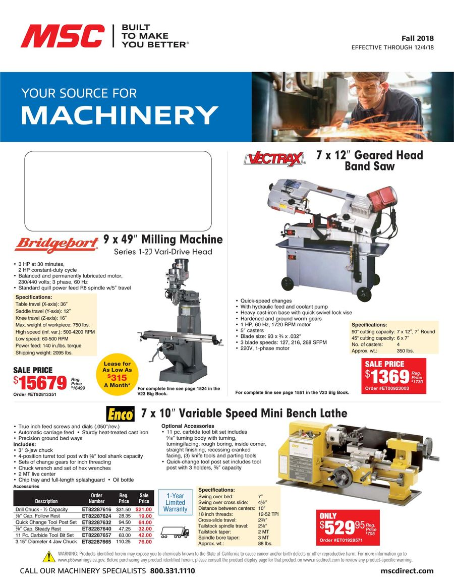 Machinery 2018 by MSC Industrial Direct