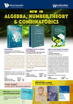 New in Algebra, Number Theory & Combinatorics - May 2018