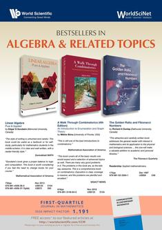 Bestsellers in Algebra & Related Topics - August 2017