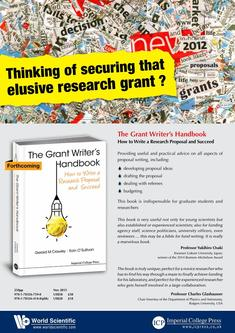 Thinking of securing that elusive research grant?