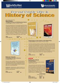 New and Notable Titles in History of Science 2018