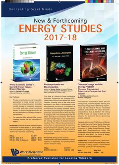 New & Forthcoming ENERGY STUDIES 2017-18