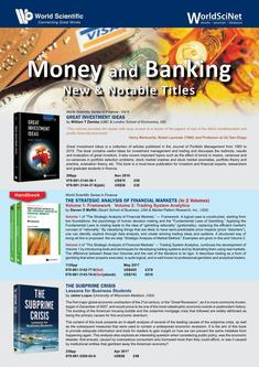 Money and Banking New & Notable Titles 2018