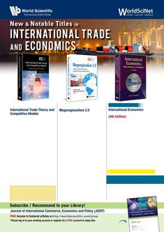 New & Notable Titles in International Trade & Economics 2018