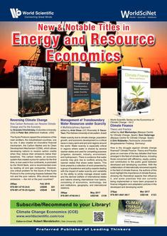 New & Notable Titles in Energy and Resource Economics 2018