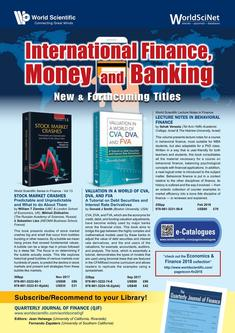 New & Forthcoming Titles in International Finance, Money and Banking 2018