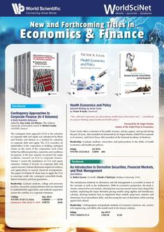 New & Forthcoming Titles in Economics & Finance 2018