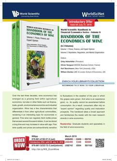 Handbook of the Economics of Wine 2018