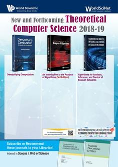 New and Forthcoming Theoretical Computer Science 2018-19