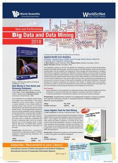 New and Forthcoming Big Data and Data Mining 2018