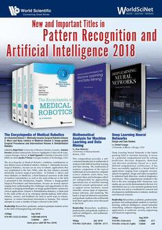 New and Important Titles in Pattern Recognition and Artificial Intelligence 2018