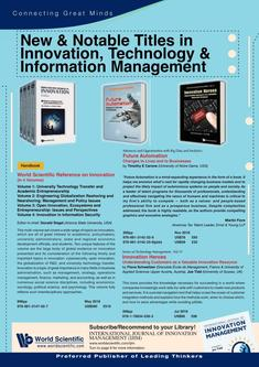 New & Notable Titles in Innovation, Technology & Information Management