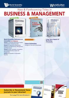 New & Forthcoming Titles in Business & Management 2018