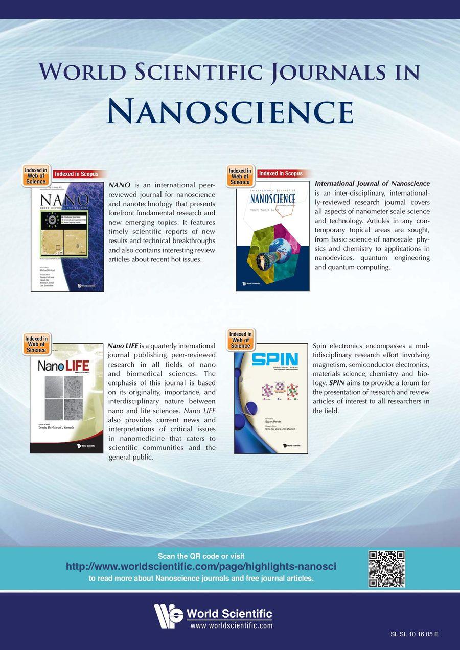 World Scientific Journals in Materials Science 2018 by World