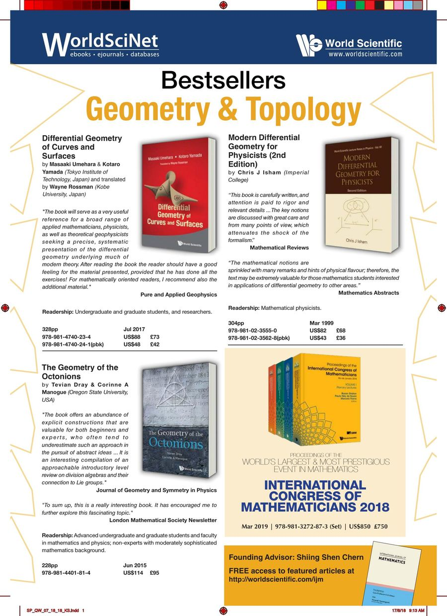 Bestsellers: Geometry & Topology - Aug 2018 by World