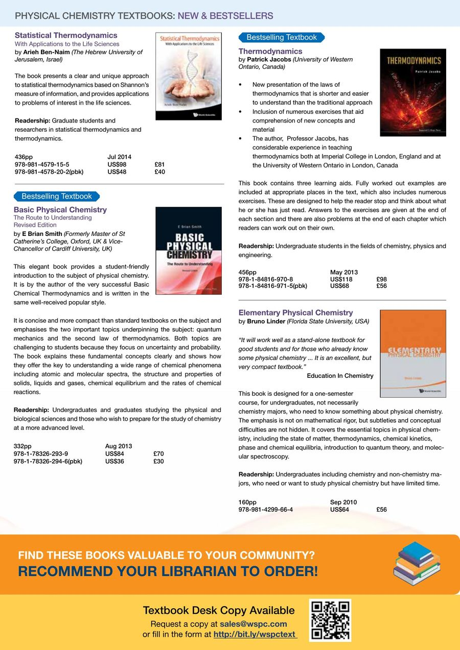 Physical Chemistry New & Bestsellers 2017 by World