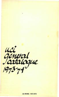 1973-1974 Education Catalogue