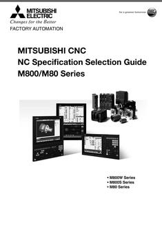 NC Specification Selection Guide M800/M80 Series 2016