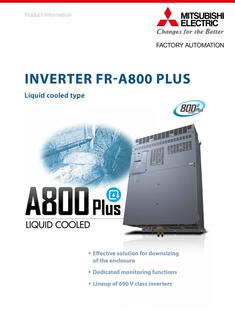 Inverter FR-A800-LC Liquid cooled 2019-12-06