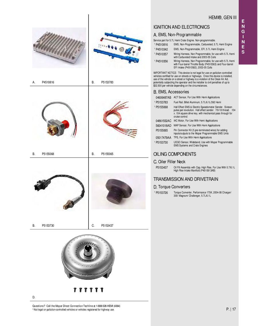 Mopar P5153758 Intake Manifold Gasket