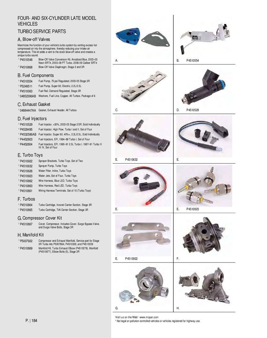 Page 184 Of Mopar Performance Catalog 2012 1984 Corvette Fuel Pump Wire Harness P 314