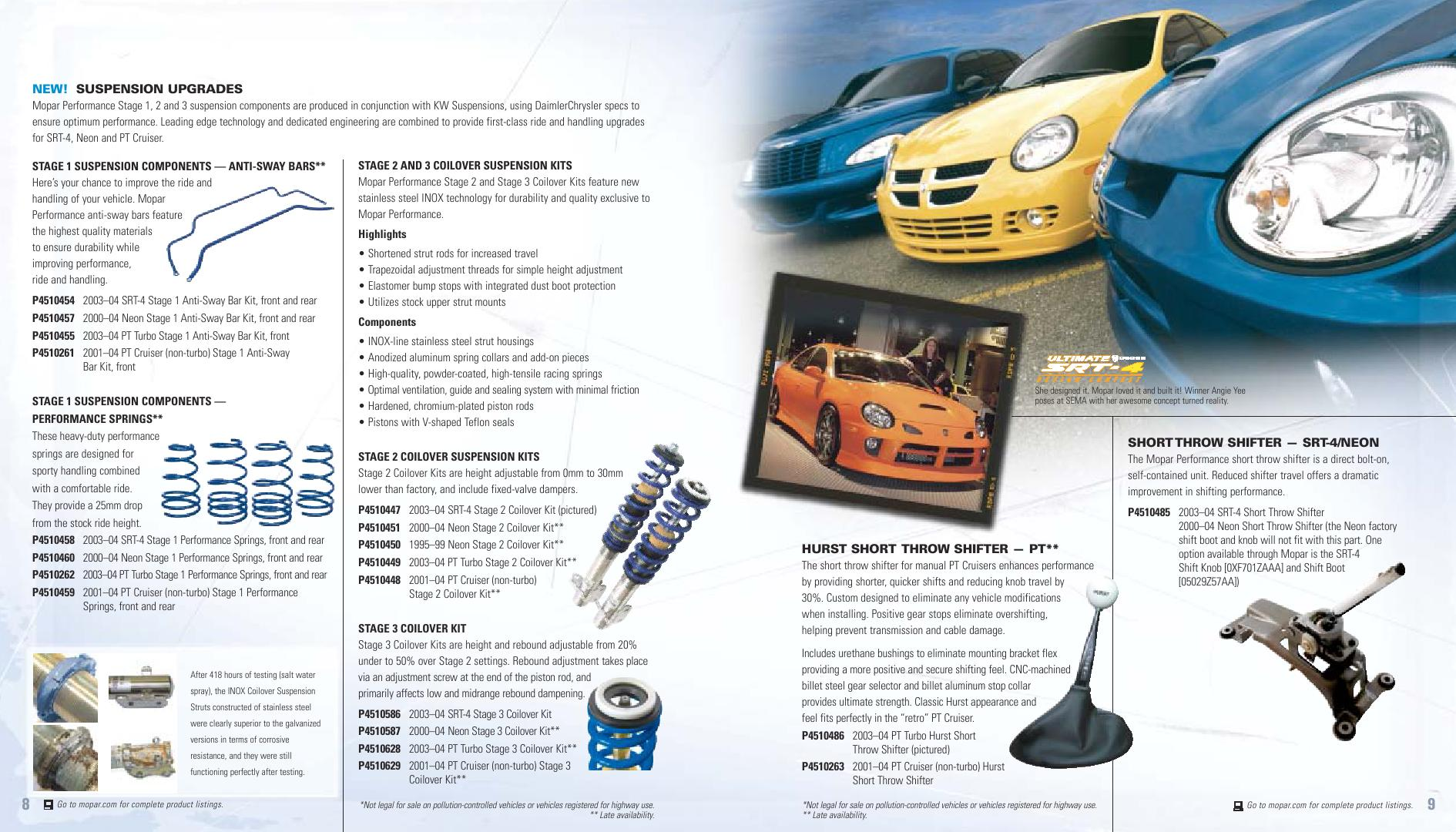Page 4 of Tuning Parts Catalog Dodge Chrysler Jeep