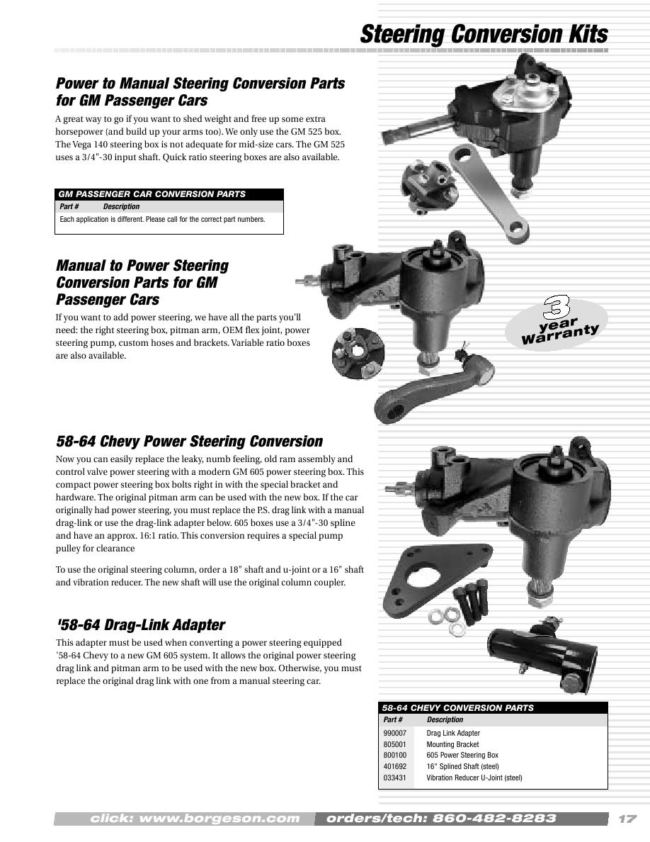 Page 19 of Borgeson Catalog