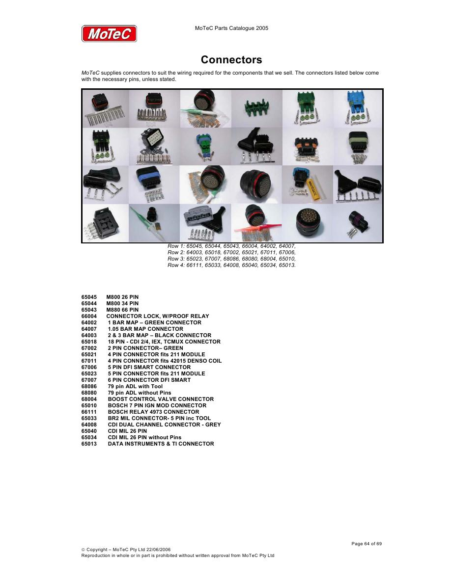 Page 67 Of Motec Parts Catalog Wiring Diagram P 69