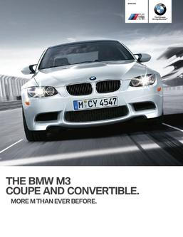 2012 BMW M3 Coupe & Convertible Series