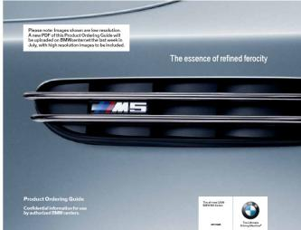BMW M5 Product Ordering Guide