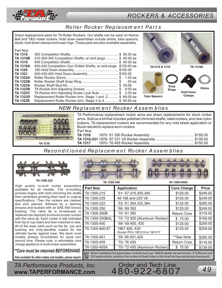Page 49 of Buick Performance Parts Catalog