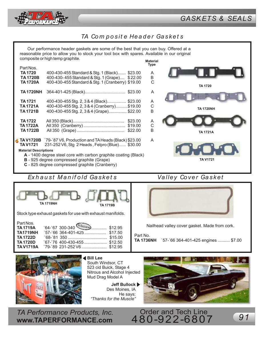 Page 89 of Buick Performance Parts Catalog