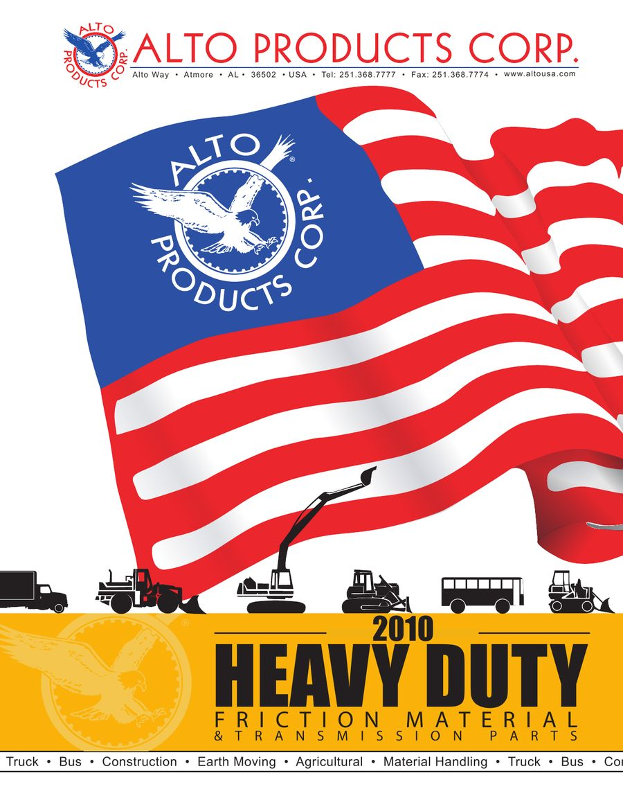 2010 Heavy Duty Friction Material & Transmission Parts by Alto