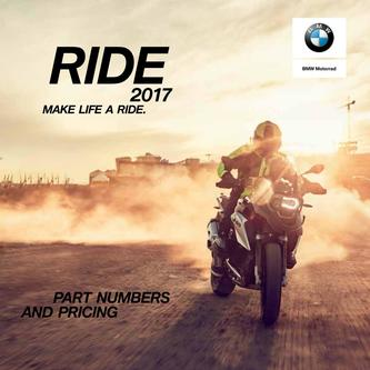 Ride Catalog 2017: Rider Gear Part Numbers