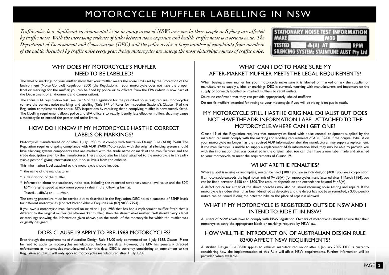 Page 4 of Staintune Motorcycle Parts Catalog
