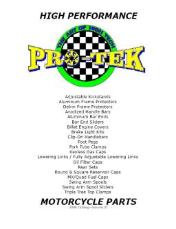 High Performance Motorcycle Parts Catalog