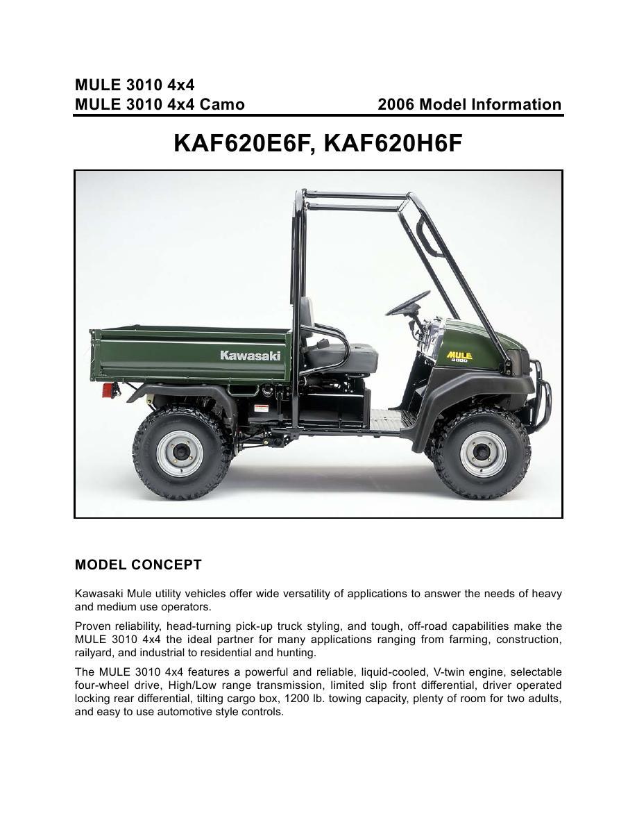 Kawasaki Mules Catalog by Kawasaki USA