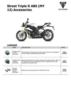 Street Triple R ABS (MY 13) Accessories 2013 (US)
