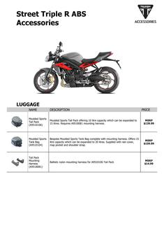 Street Triple R ABS Accessories 2014 (US)