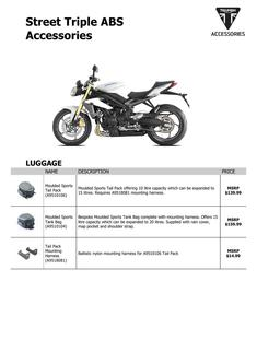 Street Triple ABS Accessories 2014 (US)