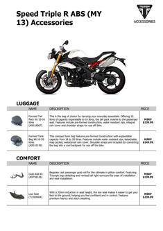 Speed Triple R ABS (MY 13) Accessories 2013 (US)